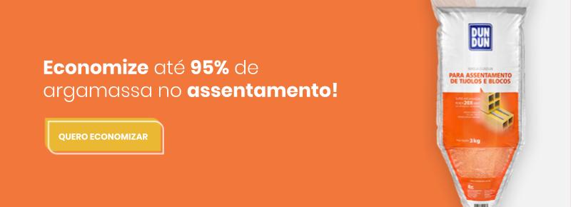 Economize até 95% de argamassa no assentamento